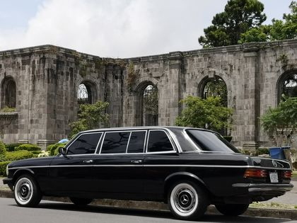 The ruins of the St. Bartholomew Temple in Cartago. COSTA RICA LIMOUSINE SERVICE 300D MERCEDES