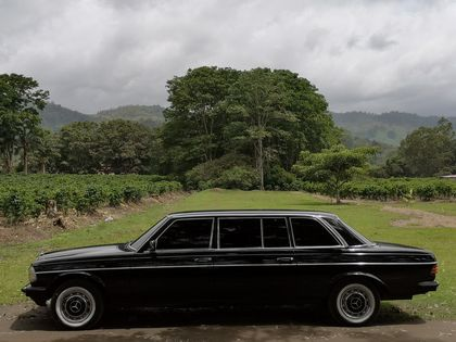 COSTA RICA COFFEE FARM. MERCEDES W123 LANG LIMO RIDES